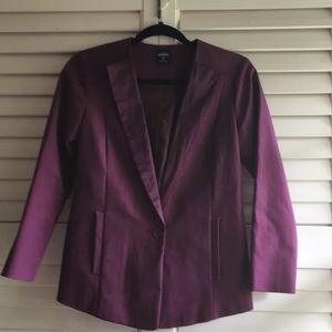 Kate Spade Saturday tuxedo jacket purple XS blazer 8ba21d9617